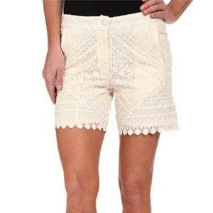 KAS New York Sibelle Embroidered High Waist Short